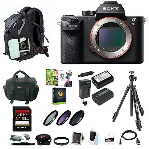 Sony-Alpha-a7SII-Mirrorless-Digital-Camera-Body-Only-w-128GB-SD-Card-PhotoSLR-Sling-Backpack