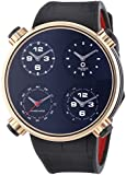 Meccaniche Veloci Quattro Valvole Four Stroke Luxury Men's Automatic Watch with Black Dial Analogue Display and Black Leather Strap W145K096519025