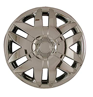CCI IWC416-16S 16 Inch Clip On Silver Finish Hubcaps - Pack of 4