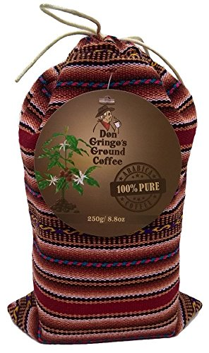 Don Gringo´s Ground French (Dark) Roast Coffee Peruvian Andes´ Gourmet Arabica Selection. Single Origin Blend, Organically Sourced, 8.8 Ounces