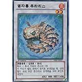 韓国版 遊戯王 焔紫竜ピュラリス【スーパー】SHSP-KR057