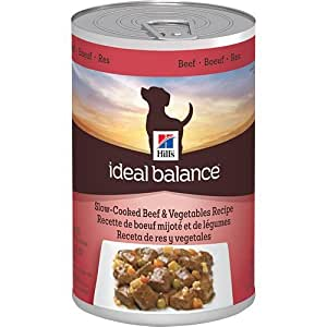 Hill's Ideal Balance Slow-Cooked Beef and Vegetables Recipe 12-Pack Dog Food Can, 12.8-Ounce