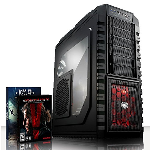 VIBOX Inferno Turbo 10 - Extreme Leistung, Gamer, Gaming PC, Ultimative Spec, Desktop PC USB3.0 Computer mit WarThunder Spiel Bundle einschließlich 64Bit Windows 10 PLUS eine lebenslange Garantie* (Neu 4.2GHz Overclocked Intel, I7 6700K Schnell Quad-Core, Skylake, Prozessor, 2 GB Overclocked nVidia Geforce GTX 960 Grafikkarte, 120GB SSD Solid-State-Laufwerk, Große 2TB Festplatte, Corsair CX750M PSU, Corsair H80i Wasser CPU Kühler, Z87 SKT1151 Motherboard, Blu -Ray ROM, 32 GB 2800MHz RAM)