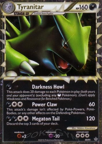 Pokemon Legend HS2 Unleashed Single Card Tyranitar Prime #88 Holo Rare [Toy] - 1