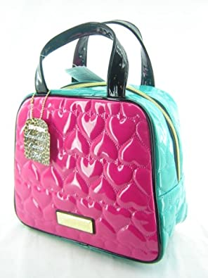 Amazon Com Betsey Johnson Dome Lunch Tote Box Be Mine