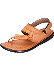 DATZZ Men's Tan Denim Sandals - B018U63M6O