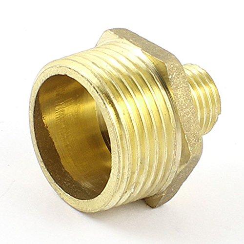 Messing-pneumatische-Rohr-34-PT-14-PT-Auengewinde-M-M-Hex-Nippel