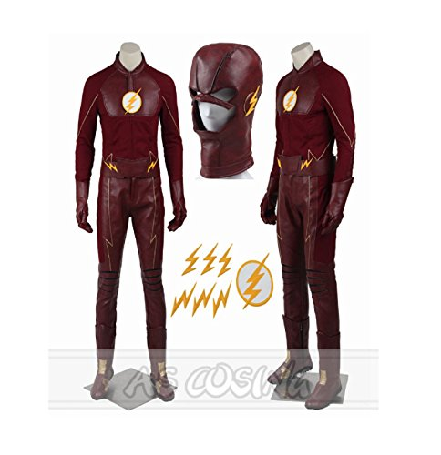 [The Flash Season 2 Barry Allen Red Cosplay Costume Halloween Costumes All Size] (Barry Allen Halloween Costume)