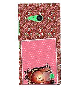 Fuson 3D Printed Love Designer back case cover for Nokia Lumia 730 - D4129