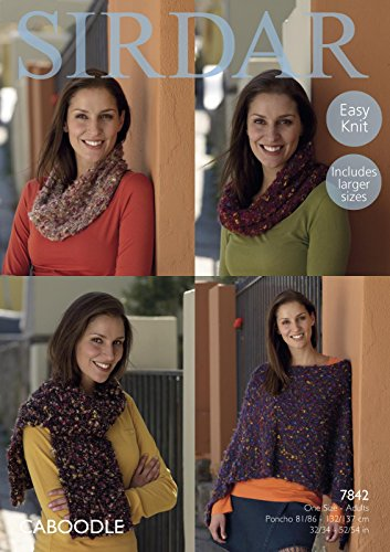 sirdar-7842-knitting-pattern-womens-easy-knit-poncho-snoods-and-scarf-in-sirdar-caboodle