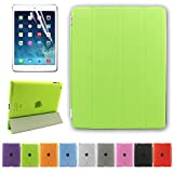 Besdata® Ultra Thin Magnetic Smart Cover + Back Case For Apple iPad 2 iPad 3 ipad 4, 2nd, 3rd & 4th Generation - Supreme Quality - Protects the Device - UK Stock - Green - PT2606