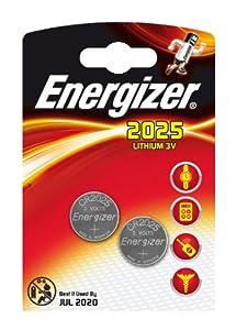 Energizer 2 Piles Lithium CR2025 3 V
