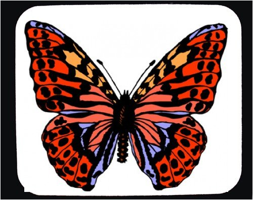 Mouse Pad with butterfly, wings, insect, spots, red - Buy Mouse Pad with butterfly, wings, insect, spots, red - Purchase Mouse Pad with butterfly, wings, insect, spots, red (SHOPZEUS, Office Products, Categories, Office Supplies, Desk Accessories)