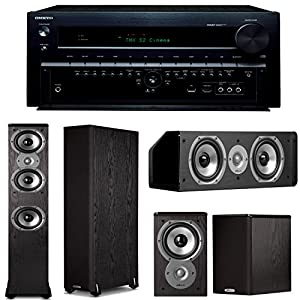 Onkyo TX-NR838 7.2 Channel Network A/V Receiver Plus A Polk Audio TSi Series 5.0 Home Theater Speaker System (TSi 400, TSi 100 & CS10) from Onkyo