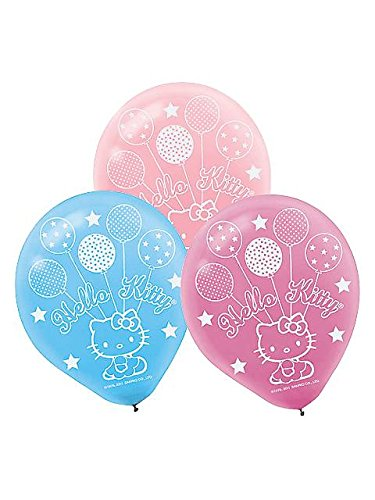 Hello Kitty Printed Latex Balloons- Assorted Colors - 1