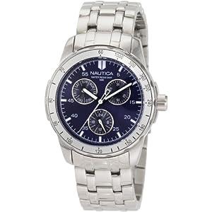 Nautica Men's N13555G Windseeker Multifunction Blue Dial Watch