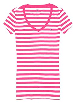 Tommy Hilfiger Women V-neck Striped T-shirt