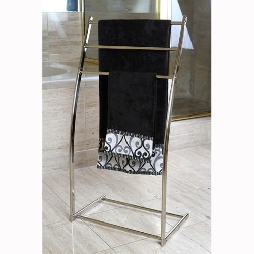 Brass Edenscape Free Standing Towel Rack Satin Nickel (Floor Standing Towel Rack compare prices)