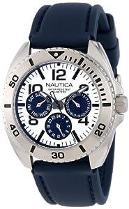 Nautica Men's N11609G Sport Ring Box Set Classic Analog Enamel Bezel Watch