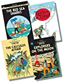 The Adventures of Tintin Original Hardback Collection 5 - 4 Books RRP £43.96 (Explorers on the Moon; The Calculus Affair; The Red Sea Sharks; Tintin in Tibet) Herge