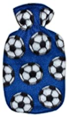 Warm Tradition Soccer Fleece Covered Hot Water Bottle- Bottle made in Germany, Cover made in USA