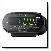 Sony ICF-C318 Clock Radio with Dual Alarm (Black)