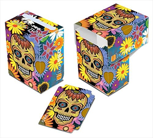 Ultra Pro Yellow Skull Dia De Los Muertos Full-View Deck Box