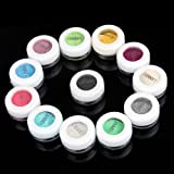12 Glitter Mineral Eyeshadow Eye Shadow Pigments Makeup