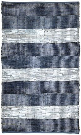 Blue Stripe Leather Matador 8x10' Rug with Free Shipping!