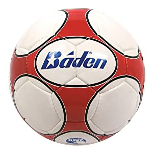 Baden Size 3 Low Bounce Futsal Game Ball, Red/White
