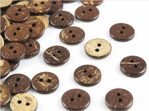 yaka 300pcs 2 holes coconut shells 10 mm wood buttons. Black Bedroom Furniture Sets. Home Design Ideas
