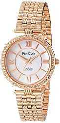 Armitron Women's 75/5214MPRG Swarovski Crystal Accented Rose Gold-Tone Bracelet Watch
