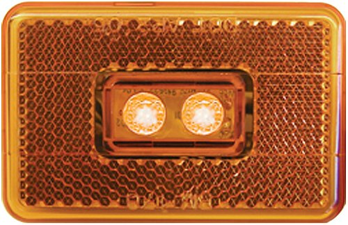 Peterson V170A Piranha Amber Led Clearance/Side Marker Light With Reflex