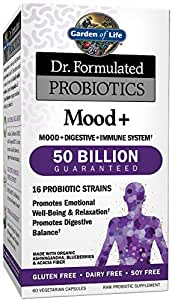 Garden of life dr formulated probiotics mood plus capsules 60 count health for Garden of life probiotics mood