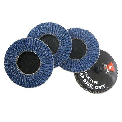 Neiko Roloc Type 2-Inch Flap Disc, Zirconia, 40 Grit, 10 Pieces