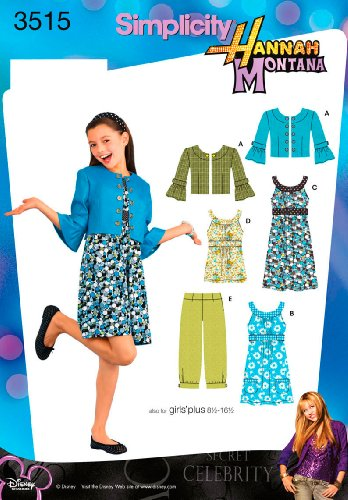 Simplicity Sewing Pattern 3515 Girls/Girls Plus Dresses, Aa (8-10-12-14-16)