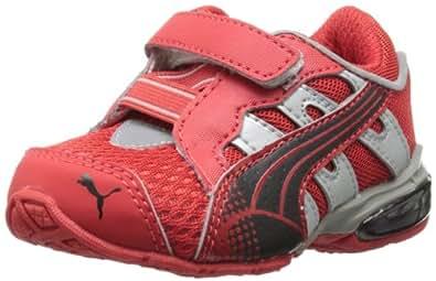 PUMA Voltaic 3 V Kids Running Shoe (Toddler/Little Kid/Big Kid),High Risk Red/Black/High Risk Red,4 M US Toddler