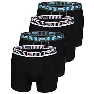 PUMA Herren Brand Boxer Boxershort 4er Pack black 200 - S