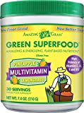 Amazing Grass Green Superfood Multivitamin Pineapple Lemongrass, 30 Servings, 7.4 Ounces