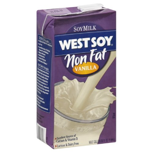 Westsoy Soy Milk Vanilla Non Fat, Gluten Free, 64-ounces (Pack of4)