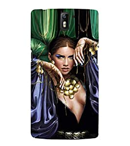 EPICCASE Loevly lady Mobile Back Case Cover For OnePlus One (Designer Case)