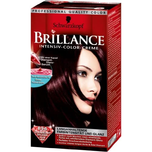 schwarzkopf brillance lot de 2 couleur colorations cheveux 896 rouge noir ebay. Black Bedroom Furniture Sets. Home Design Ideas