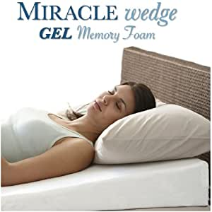 Gel Memory Foam Wedge Pillow For Acid Reflux Cool Temp