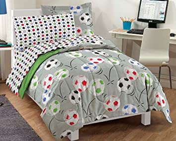 Soccer Ultra Soft Microfiber Comforter Bedding Set
