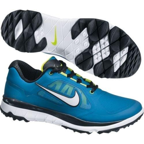 Nike Golf Men's Nike FI Impact Golf Shoe,Military Blue/Venom Green/Black/White,10.5 M US