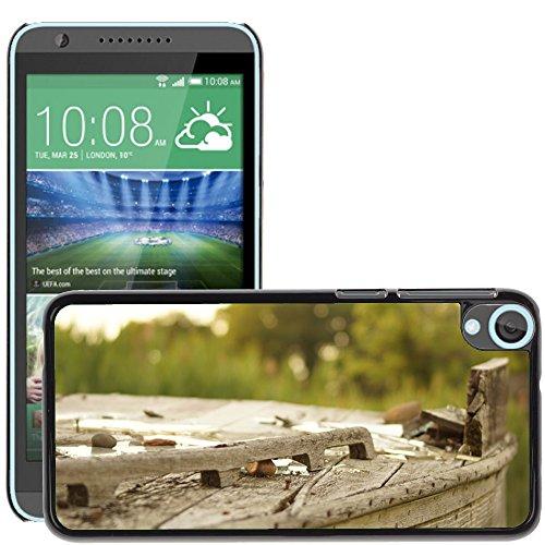 Carcasa Funda Prima Delgada SLIM Casa Case Bandera Cover Shell para // M00150040 Legno Broke Outdoor Vecchia Struttura // HTC Desire 820