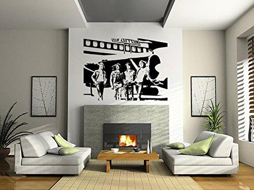 Led Zeppelin Wall Art Sticker Rock Music Decal Band Vinyl Mural Wa661, Exlarge 148Cm(W) X 110Cm(H)