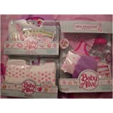 Baby Alive Diapers,food,accessories,little Adventure Travel Set
