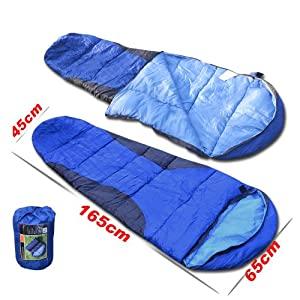 NEW Sleeping bag child Size with Carry Bag outdoor indoor camping sleep Blue