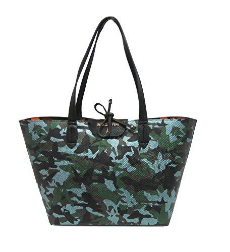 Patrizia Pepe borsa shopping 2V5452A2EP camouflage gree/orange reversibile